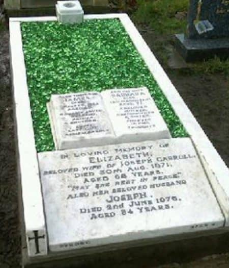 A stone memorial after rejuvenation by our team