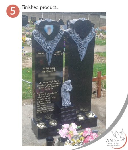 Bespoke memorial design - stage 5