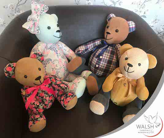 Memory bears - a lovely way to remember your loved one