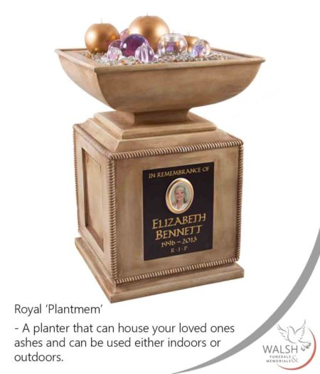 Planter memorial for holding your loved ones ashes