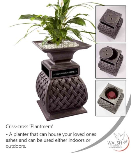 A planter memorial to house your loved ones ashes and a plant