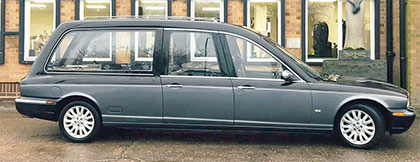 One of our funeral hearses